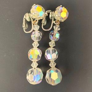 Vintage Laguna Iridescent Faceted Bead earrings